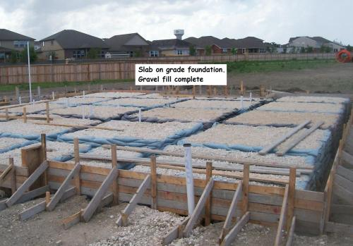 New home construction stage 1 foundations jwk for Slab foundation vs basement