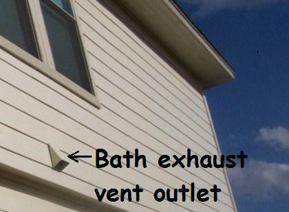 Bath exhaust vent to exterior